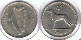 IRLANDA EIRE 6 PENCE 1928 PATA SILVER BONITA - Irlanda