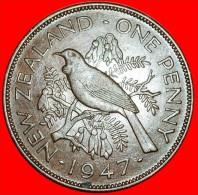 ★TUI BIRD: NEW ZEALAND★ PENNY 1947! ★ LOW START★ NO RESERVE! - Nouvelle-Zélande