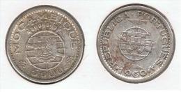 MOZAMBIQUE 5 ESCUDOS 1960 PLATA SILVER C58 - Mozambique