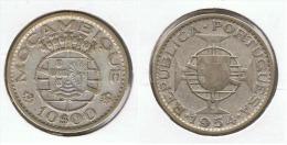 MOZAMBIQUE 10 ESCUDOS 1954 PLATA SILVER C63 - Mozambique