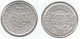MOZAMBIQUE 10 ESCUDOS 1955 PLATA SILVER C53 - Mozambique