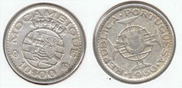 MOZAMBIQUE 10 ESCUDOS 1960 PLATA SILVER C54 - Mozambique