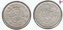 MOZAMBIQUE 10 ESCUDOS 1960 PLATA SILVER C63 - Mosambik
