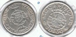 MOZAMBIQUE 20 ESCUDOS 1960 PLATA SILVER C54 - Mozambique