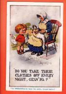 EZB-12 Mc Gill Grand-mère Plumant Son Oie, Canard, Enfant, Humour.  CAchet 1917 - Mc Gill, Donald