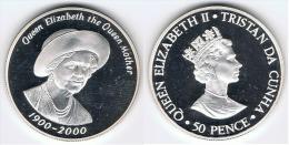 TRISTAN DA CUNHA 50 PENCE 2000 PLATA SILVER - Monedas