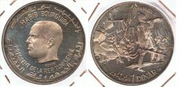 TUNEZ  HANNIBAL  DINAR 1969 PLATA SILVER - Túnez