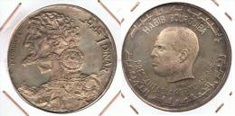 TUNEZ  MASINISSA  DINAR 1969 PLATA SILVER - Túnez