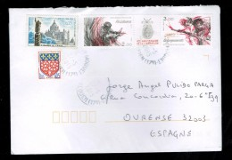 FRANCE USED COVER 2015 BASILIQUE LISEUX 40TH ANNIVERSARY OF LIBERATION II WAR WORLD RESISTANCE LANDING - Francia