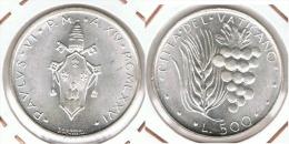 VATICANO PABLO VI 500 LIRAS 1976 PLATA SILVER - Vaticano (Ciudad Del)
