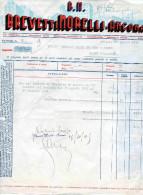 ANCONA-BREVETTI MORELLI-FATTURA  AFFRANCATA CON IMPOSTA SULL´ENTRATA CENT. 10 X 18 - 1900-44 Vittorio Emanuele III