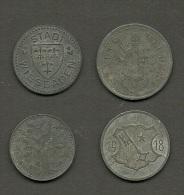 Notgeld Kriegsgeld OFFENBACH WORMS WIESBADEN WERDEN  4 X 10 Pfennig 1917-1918 - [ 3] 1918-1933: Weimarer Republik