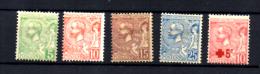 Prince Albert 1er, Croix-Rouge, 22 / 26*, Cote 38 € - Neufs