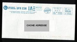 France EMA Empreinte Postmark Université De Lorraine 57 Metz - Poststempel