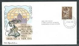 1966 VATICANO BUSTA SPECIALE CAPITOLIUM ANNIVERSARIO PRIMO TELEFONO - VT5 - FDC