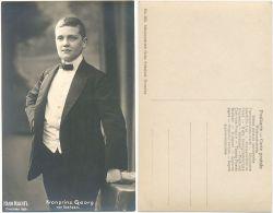 AK Kronprinz Georg Von Sachsen, Fotokarte Verlag Hahn Nachfolger Dresden 1906 - Koninklijke Families