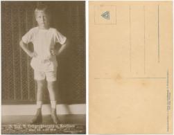 AK Erbgroßherzog Karl August Von Sachsen Weimar Eisenach, Fotokarte 1918 - Familles Royales