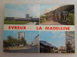 CP 27 Eure EVREUX Quartier De La MADELEINE  - Multivue  , Immeubles Cité Type HLM Vers 1970 - Evreux