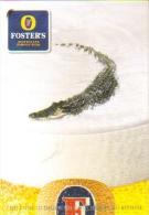"""Carte Postale édition """"Carte à Pub"""" - Foster's Australia's Famous Beer (crocodile Dans La Mousse De Bière) - Advertising"""