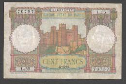 MAROC (MAROCCO) : 100 Francs - 22/12/52 - P45 - VF - Marocco