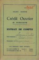 1958 : Société Anonyme De CRÉDIT OUVRIER De JODOIGNE: Extrait De Compte: GELDENAKEN, - Banque & Assurance