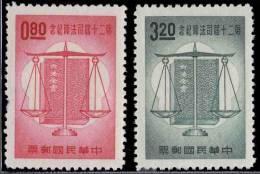 Taiwan 1965 20th Judicial Day Stamps Scales Book Justice Balance - 1945-... République De Chine