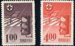 Taiwan 1965 Traffic Safety Stamps Traffic Light Crosswalk - 1945-... Republic Of China