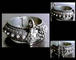 SHUMLAYLAT Ancien Bracelet De Mariage Yéménite / Old Yemen Bride Silver Bracelet - Art Africain