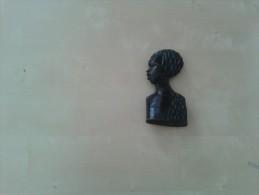 Prachtige Buste Van Zwarte Vrouw In Zwart Hout - Art Africain
