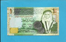 JORDAN - 1 DINAR - 2006 - P 34.c - UNC. - Sign. 27 - Sherif Hussein Ibn Ali - HASHEMITE KINGDOM - 2 Scans - Jordania