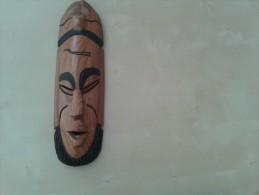 Prachtig Masker In Bruin Hout - Art Africain