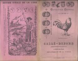 Catalogue 1899 - GALLE DEFOND - PORT-de-PILES Chatellerault Vienne (86) Elevage Graineterie Horticulture - Publicités