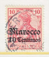 Germany-Marocco 22    (o)  TANGER TYPE I Cd.  No Wmk. - Offices: Morocco