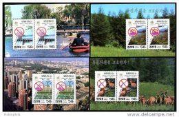 Korea 1994, SC #3387-90, Perf M/S, World Environment Day - Protección Del Medio Ambiente Y Del Clima