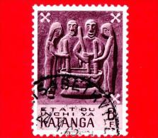 KATANGA  - Usato - 1961 - Arte - Folclore - Sculture Lignee - Preparing Meal - 8 - Katanga