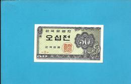 KOREA, SOUTH - 50 JEON -  ND (1962 ) - P 29 - UNC. - 2 Scans - Corea Del Sud
