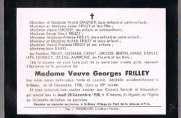 Madame Veuve Georges FRILLEY . - Décès