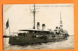 MNL-25  Les Fêtes Du Havre, Le Condé, Croiseur Cuirassé.  Marine Française.  Non Circulé - Guerra