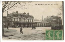 CPSM NANTES (Loire Atlantique) - Cour De La Gare De L'Etat - Nantes