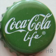 Coca-Cola life Kronkorken 2015 german soda bottle crown cap Coke chapa capsule tappi corona