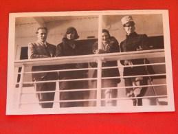 Roi Léopold III,  La Reine Astrid, La Princesse Marie José Et Le Roi Humberto D'Italie - Koninklijke Families