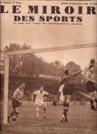 MIROIR SPORTS N° 1028 13 SEPTEMBRE 1938 FOOTBALL ROUBAIX BAT MARSEILLE ATHLETISME LEVEQUES CYCLISMELE JEUNE ROSSIER - Sport