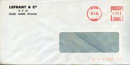 EMA Satas SJ-69014 LEFRANT&Cie,80 Ham,Somme,chimie,plastique,produits Chimiques,lettre Obliterée 16.5.1984 - Chemistry