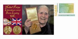 Spain 2015 - Nobel Prize 2007 - Literature - Doris Lessing/U.K. Special Cover - Nobelpreisträger