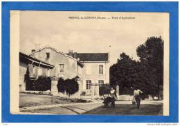 MESNIL LA HORGNE-école D'agriculture -beau Plan Animé-années 20-30 - Altri Comuni