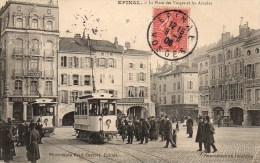 88 EPINAL  La Place Des Vosges Et Les Arcades - Epinal