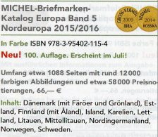 MICHEL Nord-Europa 2015/2016 Katalog Neu 66€ Band 5 Nordeuropa Stamp Danmark Eesti Soumi FL Latvia Litauen Norge Sverige - Andere Sammlungen