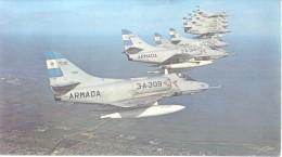 BASE AERONAVAL ARGENTINA COMANDANTE ESPORA AVIONES A-4Q SKI HAWK CPA DOS DIVISE CIRCA 1980 TBE UNCIRCULATED - 1946-....: Moderne