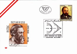 FDC Ernst Mach Physiker 1988 - FDC