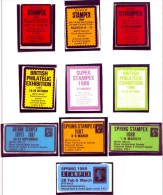 GRANDE BRETAGNE- ÉRINNOPHILIE-  LOT DE 10 VIGNETTES GRANDS FORMATS EXPOSITION PHILATÉLIQUE STAMPEX 1983 A 1989- - Gran Bretagna